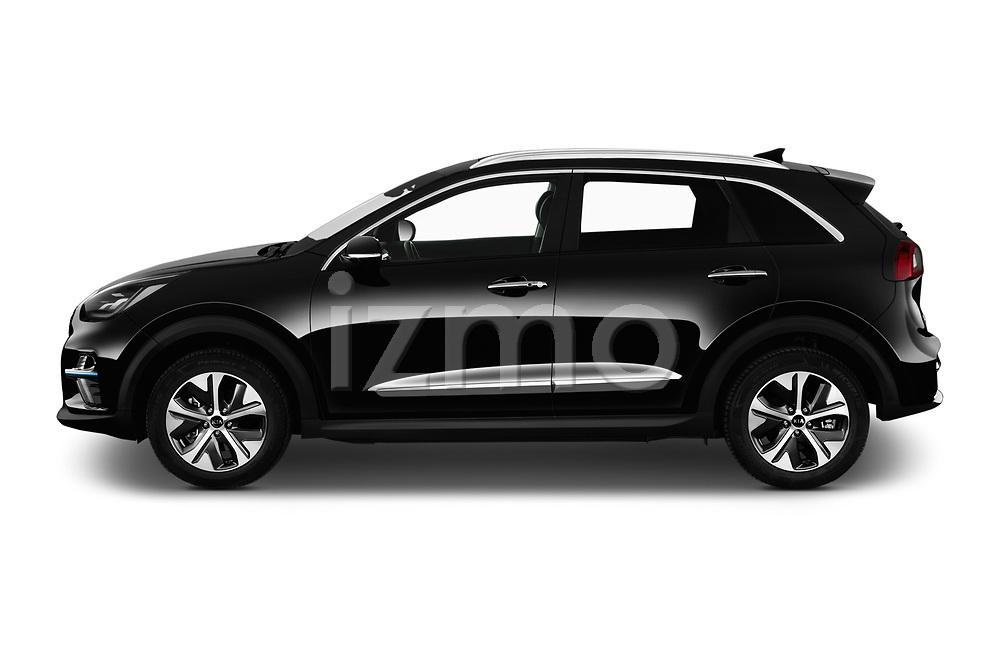 Car Driver side profile view of a 2019 KIA e-Niro More 5 Door SUV Side View