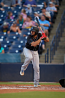 Jupiter Hammerheads Adrian Nieto bats during a Florida State League game against the Tampa Tarpons on July 26, 2019 at George M. Steinbrenner Field in Tampa, Florida.  Tampa defeated Jupiter 4-3 in the second game of a doubleheader.  (Mike Janes/Four Seam Images)