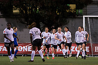 Seattle, WA - April 15th, 2017: Sky Blue FC Sarah Killion celebrates during a regular season National Women's Soccer League (NWSL) match between the Seattle Reign FC and Sky Blue FC at Memorial Stadium.
