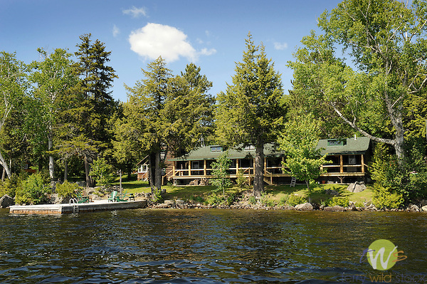 Cloughs waterfront lodge. Old Camp Allagash dining room.