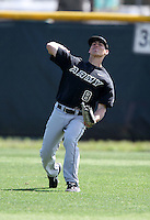 March 13, 2010:  Outfielder David Darnell of Army vs. Long Island University Blackbirds in a game at Henley Field in Lakeland, FL.  Photo By Mike Janes/Four Seam Images