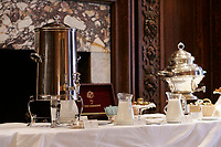 Coffee and tea at The Chateau Laurier historic Hotel on Rideau Street in..Ottawa, Capital of Canada....photo : (c)  Images Distribution..