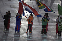 OLYMPIC GAMES: PYEONGCHANG: 25-02-2018, Closing Ceremony Olympic Winter Games, Flag bearer Ireen Wüst (NED), ©photo Martin de Jong