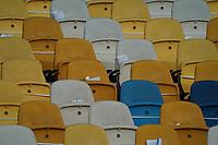 Zettel mit Hygienevorschriften für die 21000 Zuschauer im Stadion<br /> - 10.10.2020: Ukraine vs. Deutschland, UEFA Nations League, 3. Spieltag, Olympiastadion Kiew <br /> DISCLAIMER: DFB regulations prohibit any use of photographs as image sequences and/or quasi-video.