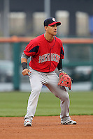 Pawtucket Red Sox shortstop Jose Iglesias #10 during a game against the Buffalo Bisons at Coca-Cola Field on April 15, 2012 in Buffalo, New York.  Buffalo defeated Pawtucket 10-9 in ten innings.  (Mike Janes/Four Seam Images)