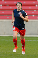 Chicago, IL - Saturday Sept. 24, 2016: Diana Matheson prior to a regular season National Women's Soccer League (NWSL) match between the Chicago Red Stars and the Washington Spirit at Toyota Park.