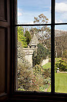 View of the garden from a library window