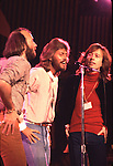 Bee Gees 1979 Maurice Gibb, Barry Gibb and Robin Gibb at Unicef concert at UN ..© Chris Walter..