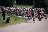 peloton led by Team BMC rolling by<br /> <br /> Stage 5: Lorient > Quimper (203km)<br /> <br /> 105th Tour de France 2018<br /> ©kramon