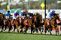 Melbourne Cup / race action<br /> 2017 Melbourne Cup horse racing, <br /> Flemington Racecourse, Melbourne, Australia. <br /> Tuesday 7 November 2017. <br /> © Sport the library / Jeff Crow
