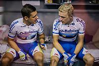 Kenny De Ketele (BEL/SportVlaanderen-Baloise) & Robbe Ghys' (BEL/SportVlaanderen-Baloise) in their bunk<br /> <br /> Lotto 6daagse Vlaanderen-Gent 2018 / Gent6<br /> day 5