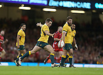 Australia outside half Bernard Foley.<br /> Dove Men Series 2014<br /> Wales v Australia<br /> Millennium Stadium<br /> 08.11.14<br /> ©Steve Pope-SPORTINGWALES