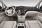 Stock photo of straight dashboard view of 2015 Nissan Quest s 5 Door Mini Van