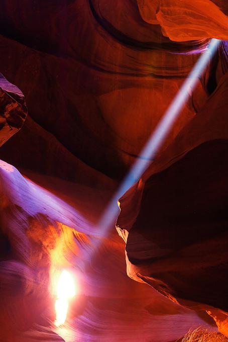 Arizona's Upper Antelope Canyon boasts colorful sandstone and beautiful rays of light.