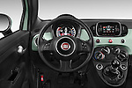 Car pictures of steering wheel view of a 2016 Fiat 500 Sport 3 Door Hatchback Steering Wheel