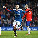 Barrie McKay celebrates after scoring