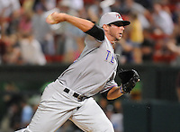 Pitcher Trevor Hurley (12) of the Hickory Crawdads at the 2010 South Atlantic League All-Star Game on Tuesday, June 22, 2010, at Fluor Field at the West End in Greenville, S.C. Photo by: Tom Priddy/Four Seam Images