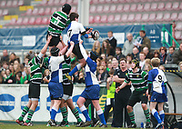 Tuesday 22nd March 2011. Action from the 2011 Medallion Shield Final between Sullivan Upper School and Limavady Grammar at Ravenhill, Belfast. Result Sullivan 17 Limavady 0.<br /> <br /> Mandatory Credit - John Dickson / DICKSONDIGITAL