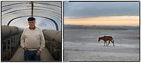 ANDALUCIA - ALFONSO ARANBURU..Mi nombre es Alfonso Aranburu. Soy arquitecto y pintor. Tengo 74 años, nací en Huelva y aquí vivo. Tengo cuatro hijos y una nieta. Amo a mi tierra porque me atrae su luz y su paisaje horizontal, protagonista de mis cuadros en los que no existe la frontera entre la tierra y el mar. La ría del Tinto se une a la del Odiel en Huelva y en sus aguas he navegado hasta que se han cubierto de residuos de fábricas (fundamentalmente de fosfoyesos procedentes de Fertiberia)..Mis dos compañeros de vela, ya han muerto de cáncer, a mí me operaron de lo mismo en el año 2.000 y mi compañera arquitecta del estudio, murió el año pasado, también de cáncer, con 38 años. También han muerto de cáncer varios compañeros del Colegio de Arquitectos de Huelva, muy jóvenes. Nadie se atreve a realizar un serio estudio epidemiológico y si se ha hecho no ha sido publicado. (c) GREENPEACE HANDOUT/PEDRO ARMESTRE- NO SALES - NO ARCHIVES - EDITORIAL USE ONLY - FREE USE ONLY FOR 14 DAYS AFTER RELEASE - PHOTO PROVIDED BY GREENPEACE - AP PROVIDES ACCESS TO THIS PUBLICLY DISTRIBUTED HANDOUT PHOTO TO BE USED ONLY TO ILLUSTRATE NEWS REPORTING OR COMMENTARY ON THE FACTS OR EVENTS DEPICTED IN THIS IMAGE