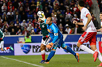 Harrison, NJ - Tuesday April 10, 2018: Luis Robles during leg two of a  CONCACAF Champions League semi-final match between the New York Red Bulls and C. D. Guadalajara at Red Bull Arena. C. D. Guadalajara defeated the New York Red Bulls 0-0 (1-0 on aggregate).