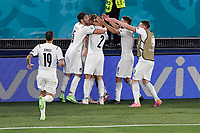 Ciro Immobile of Italy celebrates after scoring the goal of 0-2 during the Uefa Euro 2020 Group stage - Group A football match between Turkey and Italy at stadio Olimpico in Rome (Italy), June 11th, 2021. Photo Andrea Staccioli / Insidefoto