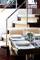 luxury boat dining room