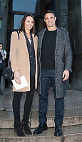 January 19 2018, PARIS FRANCE The Cerruti 1881 Show at the Fashion week<br /> Spring Summer 2018 at Palais Tokyo Paris.<br /> Rugbyman Dan Carter and his Wife are present.