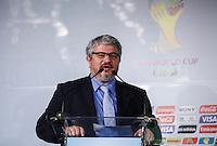 SAO PAULO, SP, 01 DE AGOSTO 2012 - COPA 2012 - CATALOGO CENTRO TREINAMENTO -  Ricardo Trade diretor de operacoes do (COL) Comitê Organizador da Copa do Mundo de 2014 durante lancamento do Catalogo de Treinamento de Selecoes da Copa do Mundo de Futebol no Brasil no Museu do Futebol na manha dessa quarta-feira, 01. FOTO: VANESSA CARVALHO - BRAZIL PHOTO PRESS.