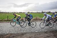 on the cobbles<br /> <br /> 1st Dwars door West-Vlaanderen 2017 (1.1)