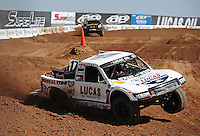 Mar. 18, 2011; Chandler, AZ, USA;  LOORRS pro 2 unlimited driver Carl Renezeder during qualifying for round one at Firebird International Raceway. Mandatory Credit: Mark J. Rebilas-