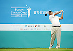 TAIPEI, TAIWAN - NOVEMBER 19:  Wang-ken Chan of Taiwan tees off on the 10th hole during day two of the Fubon Senior Open at Miramar Golf & Country Club on November 19, 2011 in Taipei, Taiwan. Photo by Victor Fraile / The Power of Sport Images