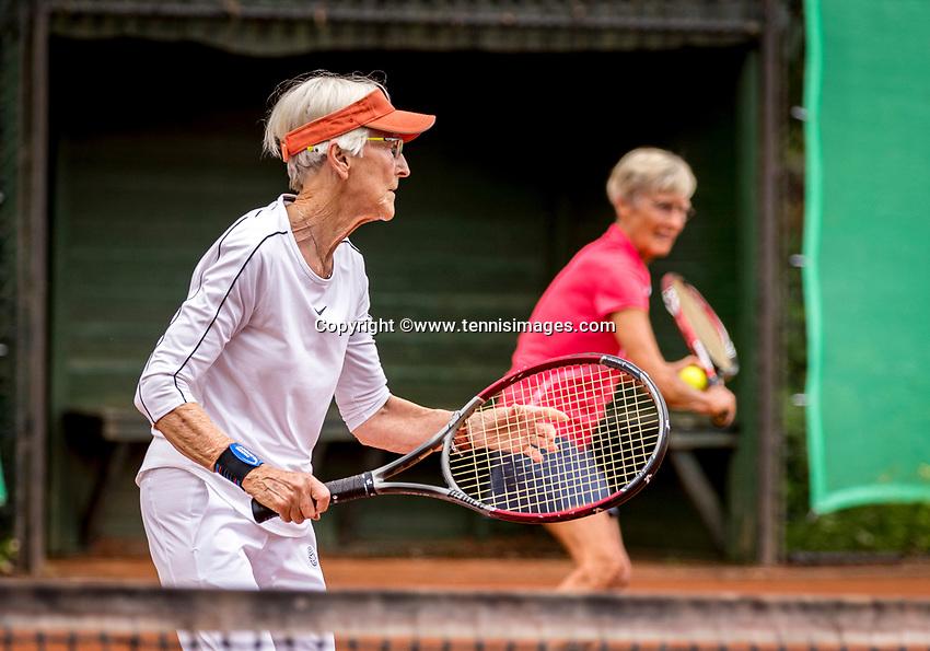 Hilversum, The Netherlands,  August 20, 2021,  Tulip Tennis Center, NKS, National Senior Tennis Championships, Women's Doubles 70+, <br /> Photo: Tennisimages/Henk Koster