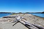 Ala Spit Park, Whidbey Island, Washington, USA.  Sand spit park popular for bird watching.