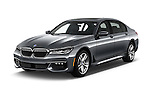 2017 BMW 7 Series 750i M Sport 4 Door Sedan Angular Front stock photos of front three quarter view