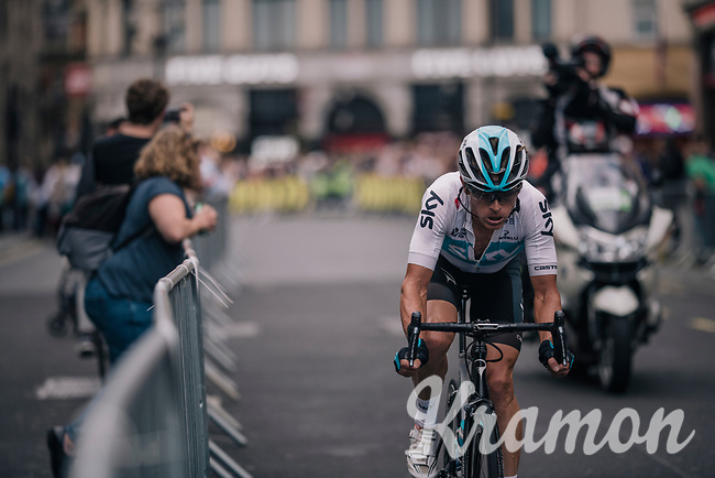Vasil Kiryienka (BLR/SKY) is the sole race leader<br /> <br /> Stage 8: London to London (77km)<br /> 15th Ovo Energy Tour of Britain 2018