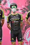 Simon Yates (GBR) Mitchelton-Scott at sign on before the start of Stage 5 of the 103rd edition of the Giro d'Italia 2020 running 225km from Mileto to Camigliatello Silano, Sicily, Italy. 7th October 2020.  <br /> Picture: LaPresse/Gian Mattia D'Alberto | Cyclefile<br /> <br /> All photos usage must carry mandatory copyright credit (© Cyclefile | LaPresse/Gian Mattia D'Alberto)