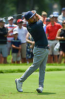 4th July 2021, Detroit, MI, USA;  J.J. Spaun (USA) watches his tee shot on 5 during the Rocket Mortgage Classic Rd4 at Detroit Golf Club on July 4,