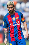 Lionel Messi of FC Barcelona looks on during their La Liga match between Deportivo Leganes and FC Barcelona at the Butarque Municipal Stadium on 17 September 2016 in Madrid, Spain. Photo by Diego Gonzalez Souto / Power Sport Images