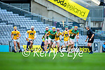Daniel Collins, Kerry in action against Eoghan Campbell, Antrim during the Joe McDonagh Cup Final match between Kerry and Antrim at Croke Park in Dublin.