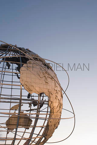 THIS IMAGE IS AVAILABLE EXCLUSIVELY FROM GETTY IMAGES<br /> <br /> Please search for image # 200566130-005 on www.gettyimages.com<br /> <br /> The Unisphere, Steel Globe built for the 1964-65 World's Fair, Flushing Meadow Corona Park, Queens, New York City, New York City, USA