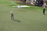 Padaig Harrington putts on the 9th green during  Day 2 at the Dubai World Championship Golf in Jumeirah, Earth Course, Golf Estates, Dubai  UAE, 20th November 2009 (Photo by Eoin Clarke/GOLFFILE)