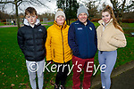 Enjoying a stroll in the Tralee Town park on Sunday, l to r: Evan, Sheila, Jerome and Amy O'Sullivan