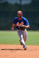 New York Mets Jonathan Johnson (3) during practice before a minor league spring training game against the Miami Marlins on March 30, 2015 at the Roger Dean Complex in Jupiter, Florida.  (Mike Janes/Four Seam Images)