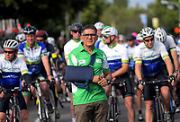 NZCC director Jorge Sandoval. Darren and Joshua Southon tribute ride before the opening ceremony of the NZ Cycle Classic UCI Oceania Tour at Queen Elizabeth Park in Masterton, New Zealand on Tuesday, 14 January 2020. Photo: Dave Lintott / lintottphoto.co.nz