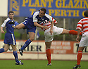 06/08/2002                   Copyright Pic : James Stewart.File Name : stewart-st john v hamilton 05.SAINTS IAN MAXWELL AND HAMILTON'S ALLY GRAHM COLLIDE N MID AIR.....Payments to :-.James Stewart Photo Agency, 19 Carronlea Drive, Falkirk. FK2 8DN      Vat Reg No. 607 6932 25.Office     : +44 (0)1324 570906     .Mobile  : +44 (0)7721 416997.Fax         :  +44 (0)1324 570906.E-mail  :  jim@jspa.co.uk.If you require further information then contact Jim Stewart on any of the numbers above.........