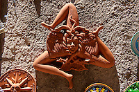 The Trinacria, Sicilian symbol, Érice, Erice, Sicily stock photos.