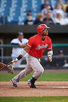 Louisville Bats first baseman Brandon Allen (29) at bat during a game against the Syracuse Chiefs on June 6, 2016 at NBT Bank Stadium in Syracuse, New York.  Syracuse defeated Louisville 3-1.  (Mike Janes/Four Seam Images)
