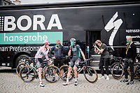 Ide Schelling (NED/BORA - hansgrohe) starts the stage in the polka dot jersey / KOM leader<br /> <br /> Stage 2 from Perros-Guirec to Mûr-de-Bretagne, Guerlédan (184km)<br /> 108th Tour de France 2021 (2.UWT)<br /> <br /> ©kramon