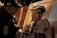 post-race recuperation (needed) for winner Mathieu Van der Poel (NLD/BKCP-Corendon)<br /> <br /> Superprestige Diegem 2015