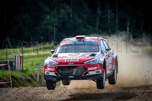 3rd July 2021, Liepaja, Latvia;  10 BREEN Craig (IRL), NAGLE Paul (IRL), TEAM MRF TYRES, Hyundai i20 during the 2021 FIA ERC Rally Liepaja, 2nd round of the 2021 FIA European Rally Championship
